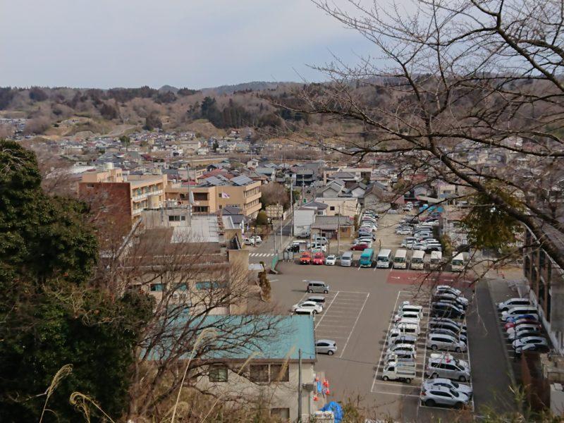 城山公園から見た町内の風景