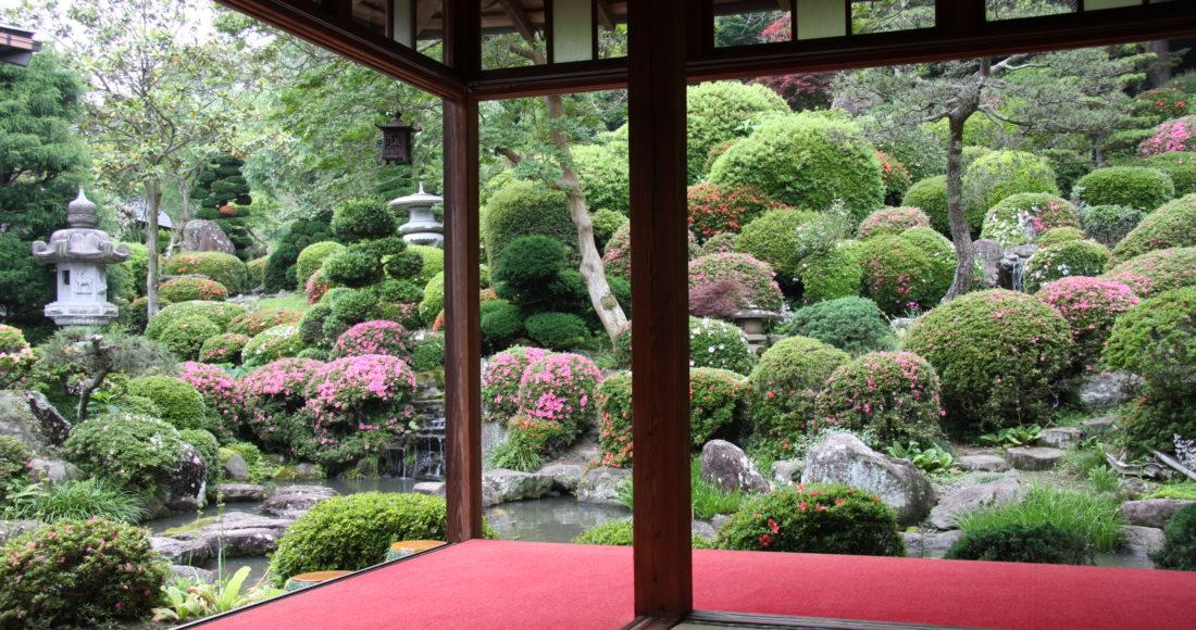 龍島院庭園-1